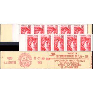 FRANCIA/SELLOS, 1979 - SABINAS - ORDINARIOS - YV 2102 C 5 - CARNET DE 10 VALORES