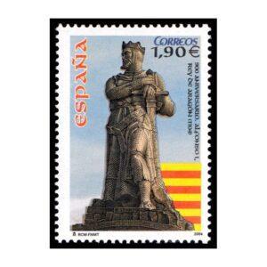 ESPAÑA/SELLOS, 2004 - 900 AÑOS DE LA CORONACION DEL REY ALFONSO I - Yv. 3706 - 1 VALOR, NUEVO